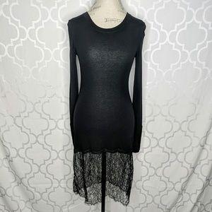 BCBGMaxazria Jersey Shirt Lace Dress